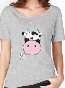 Cow munching flower Women's Relaxed Fit T-Shirt