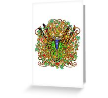 Armorial Secateurs One Greeting Card