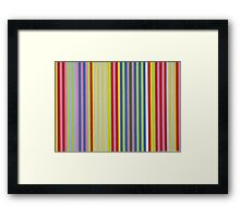 Colorful Retro Stripes Framed Print