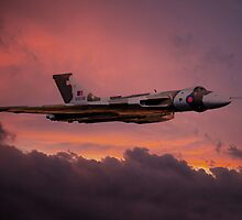 XH558 Sunrise by James Biggadike