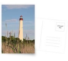 Cape May Lighthouse through the Reeds Postcards