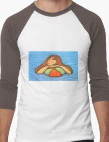 Swimming Girl Men's Baseball ¾ T-Shirt