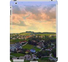 Beautiful village skyline beyond cloudy sky | landscape photography iPad Case/Skin