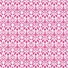 Pink And White Damask Pattern by destei