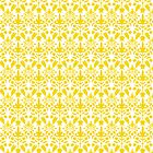 Yellow And White Damask Pattern by destei