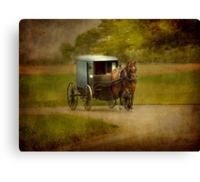 An Amish Country Ride Canvas Print