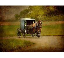 An Amish Country Ride Photographic Print