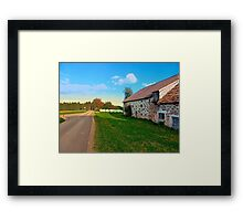 Traditional farmhouse scenery | landscape photography Framed Print