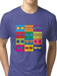 Pop Art Eyeglasses Tri-blend T-Shirt