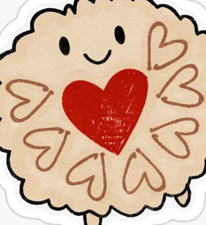 Jammie Dodger Watercolour Sticker