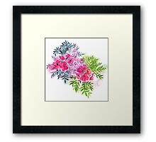 Dual Bouquets - a watercolor floral Framed Print