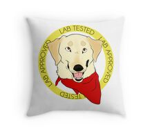 Stamp of Approval: Yellow (Black Nose) Throw Pillow