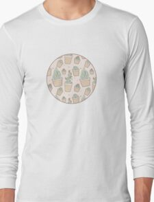 Cactus and Succulent Plants Long Sleeve T-Shirt