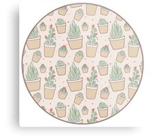 Cactus and Succulent Plants Metal Print