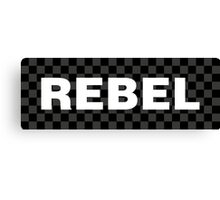 Grey Checkered Rebel Canvas Print