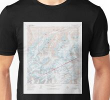 USGS TOPO Map Alaska AK Mount McKinley A-2 357756 1954 63360 Unisex T-Shirt