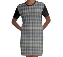 02525 Hudson County, New Jersey  Fashion Tartan  Graphic T-Shirt Dress