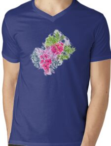 Dual Bouquets - a watercolor floral Mens V-Neck T-Shirt