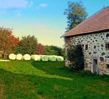 Traditional farmhouse scenery | landscape photography Sticker