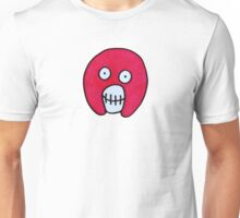Mighty Boosh Skull - Pink Unisex T-Shirt