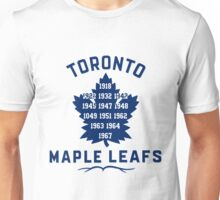 TML Maple Leafs Stanley Cup Years Unisex T-Shirt
