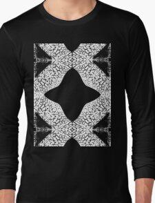 Giraffe Pattern Black and White Long Sleeve T-Shirt