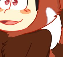 Red panda Osomatsu Sticker