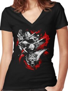Amano Chaos Fantasy Women's Fitted V-Neck T-Shirt