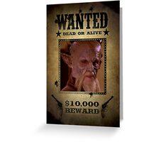 Buffy D'Hoffryn Wanted Greeting Card