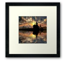 Silhouettes of the Christianity Framed Print