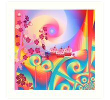 Candy Land mixed media wall art Art Print