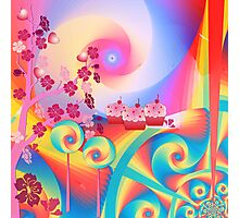 Candy Land mixed media wall art Photographic Print
