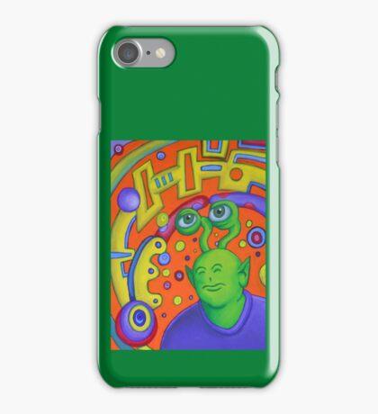 Portrait of Rusty the Alien iPhone Case/Skin