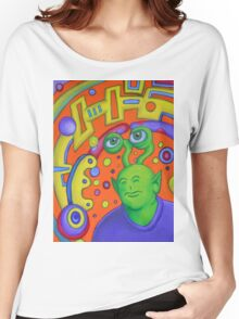 Portrait of Rusty the Alien Women's Relaxed Fit T-Shirt