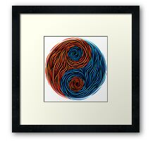 Yin and Yang, Fire and water Framed Print