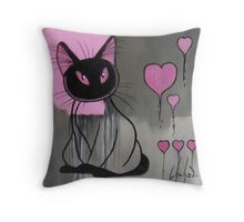 Pink Pussy Throw Pillow