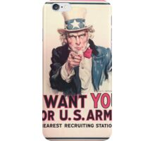 I Want YOU For U.S. Army iPhone Case/Skin