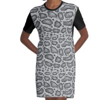 Python Texture Graphic T-Shirt Dress