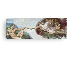 Creation of Adam, Detail of the Sistine Chapel Canvas Print