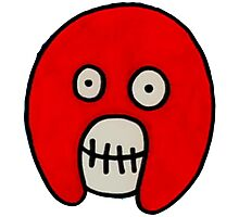 Boosh Skull - Red Photographic Print