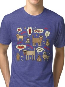 What Dogs Think and Say Tri-blend T-Shirt