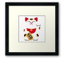 Japan 2 - Maneki Neko Framed Print