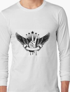 Vector Illustration - Symbol Victory And Wings Long Sleeve T-Shirt