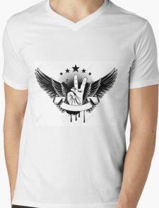 Vector Illustration - Symbol Victory And Wings Mens V-Neck T-Shirt