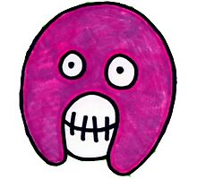 Boosh Skull - Purple Photographic Print