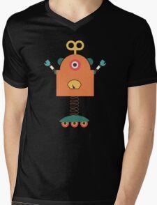 Cute Retro Robot Toy Mens V-Neck T-Shirt