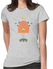 Cute Retro Robot Toy Womens Fitted T-Shirt