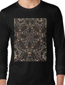 retro kaleidoscope mandala Long Sleeve T-Shirt