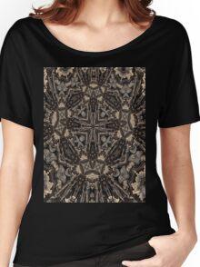 retro kaleidoscope mandala Women's Relaxed Fit T-Shirt