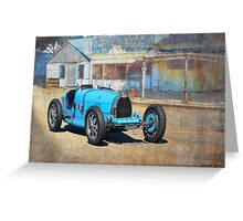 Bugatti T35A Greeting Card